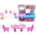 20Pcs 3 Colors Kitchen Set for Barbie Doll Furniture Accessories Fashion Dinner Table Cupboard Sink Kitchenware Set Random Color