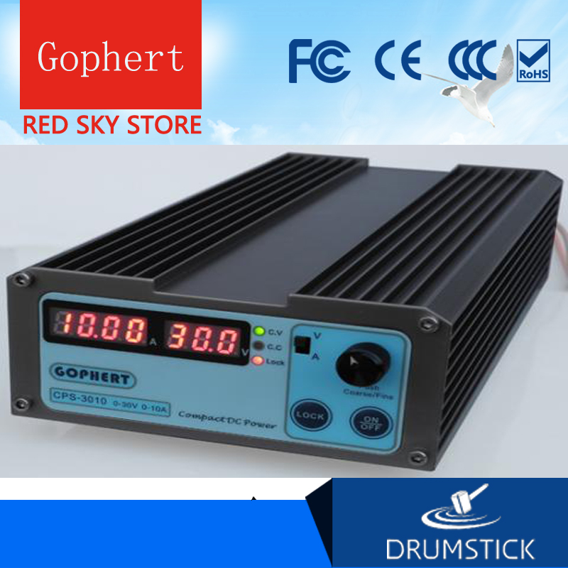Gophert CPS 3010 CPS 3010II DC Switching Power Supply Single Output 0 30V 0 10A 300W adjustable-in Switching Power Supply from Home Improvement