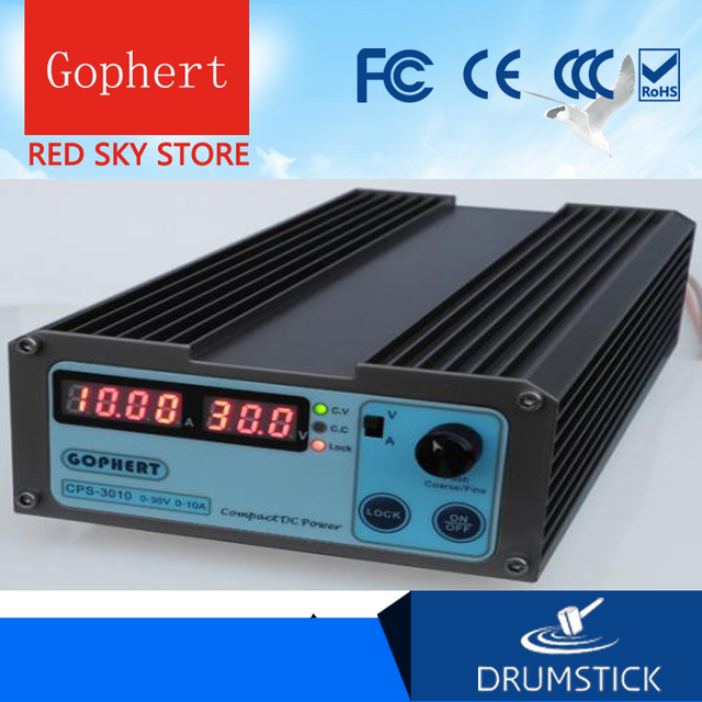 Gophert CPS 3010 CPS 3010II fuente de alimentación de conmutación de CC salida única 0 30V 0 10A 300W ajustable