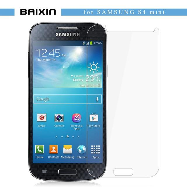 buy online ecb49 2afd5 US $1.5 34% OFF|baixin Screen Protector For Samsung Galaxy S4 mini Tempered  Glass For Galaxy S4 mini i9190 plus i9195i cover Anti shatter film-in ...