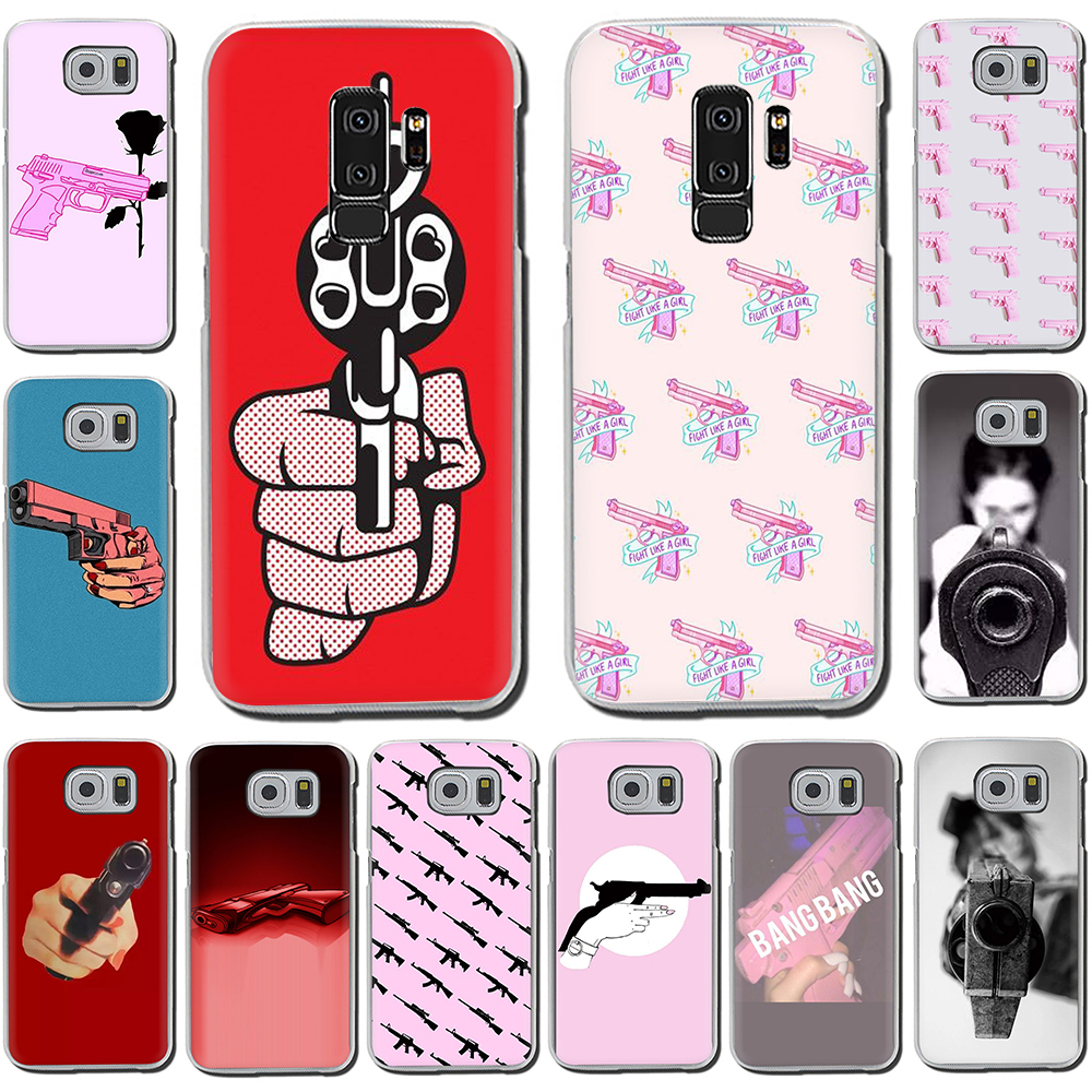 pistol bang Hard Phone Cover Case for Samsung Galaxy S10 S10E S8 Plus S6 S7 Edge S9 Plus M10 20 30 40 image