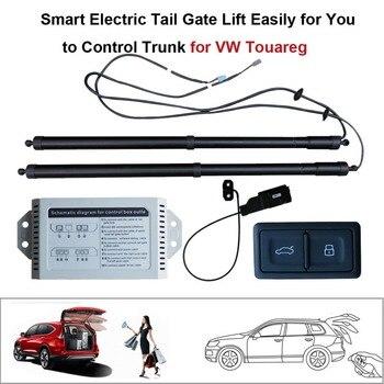 Smart Auto Elétrica Conjunto de Controle de Altura Elevador Porta Traseira para Volkswagen VW Touareg Evitar Pitada Com sucção elétrica