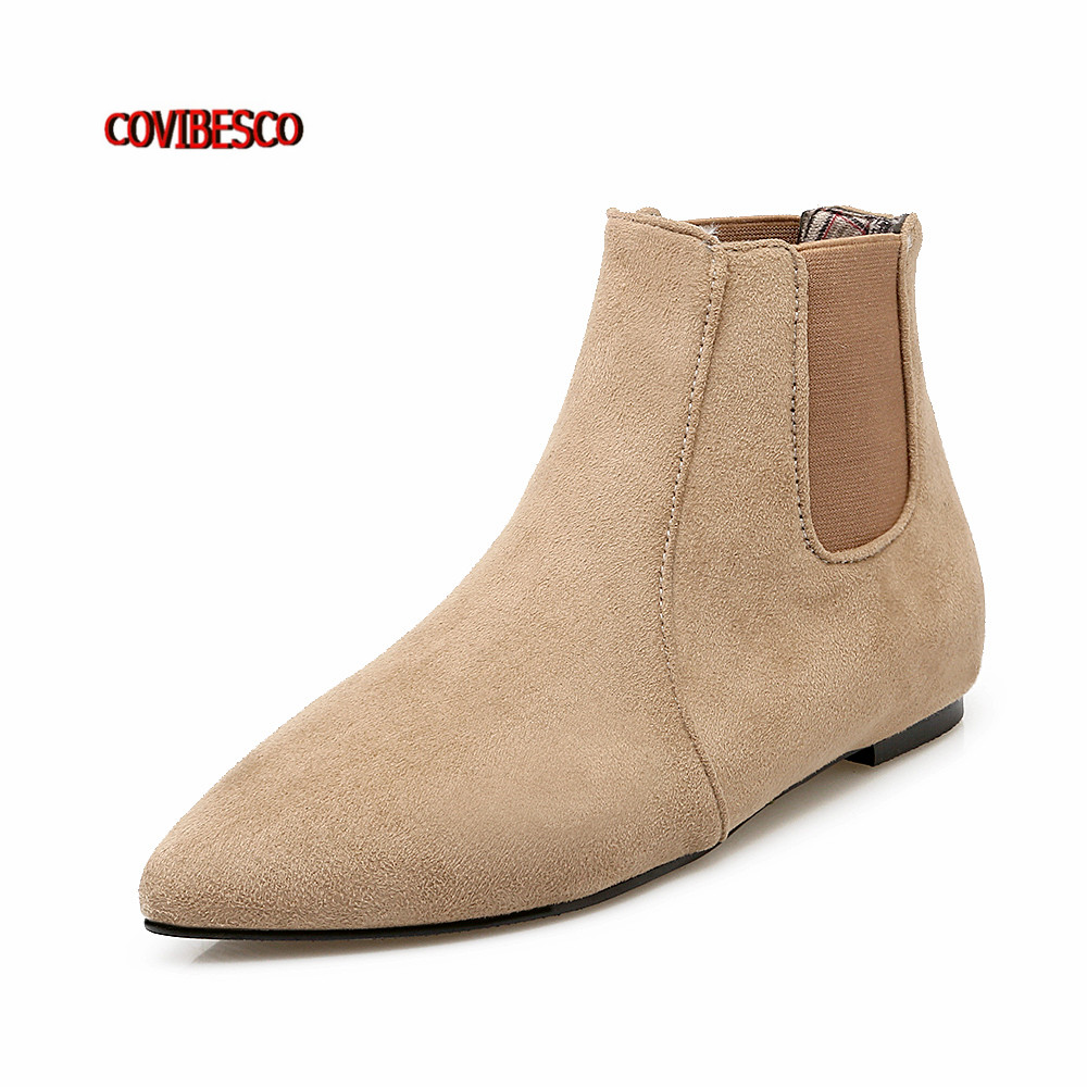 Fashion Boots  Women Ankle Boot Brand Design Spring Autumn Winter Casual Shoes New Flats Short Pointed Toe Martin Shoes Big Size new spring autumn women shoes pointed toe high quality brand fashion ol dress womens flats ladies shoes black blue pink gray