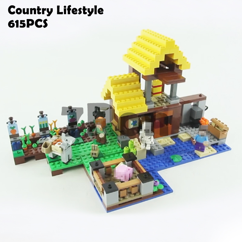 Models building toy 18039 Country Lifestyle Building Blocks Compatible with lego Minecraft series 21141 toys & hobbies building block set compatible with lego bang bao fairy series kung fu fight inserted blocks toy mysterious dragon hegemony 6606