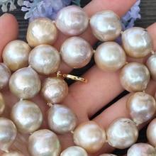 Ювелирные изделия 12-13 мм натуральный фиолетовый Эдисон ядро пламебол барокко жемчужное ожерелье