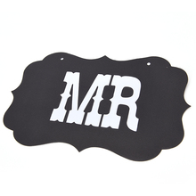 "Lovely 1 set ""Mr&Mrs"" Letter Garland Banner Wedding Party Photography Props Decoration Photo Booth with ribbons"