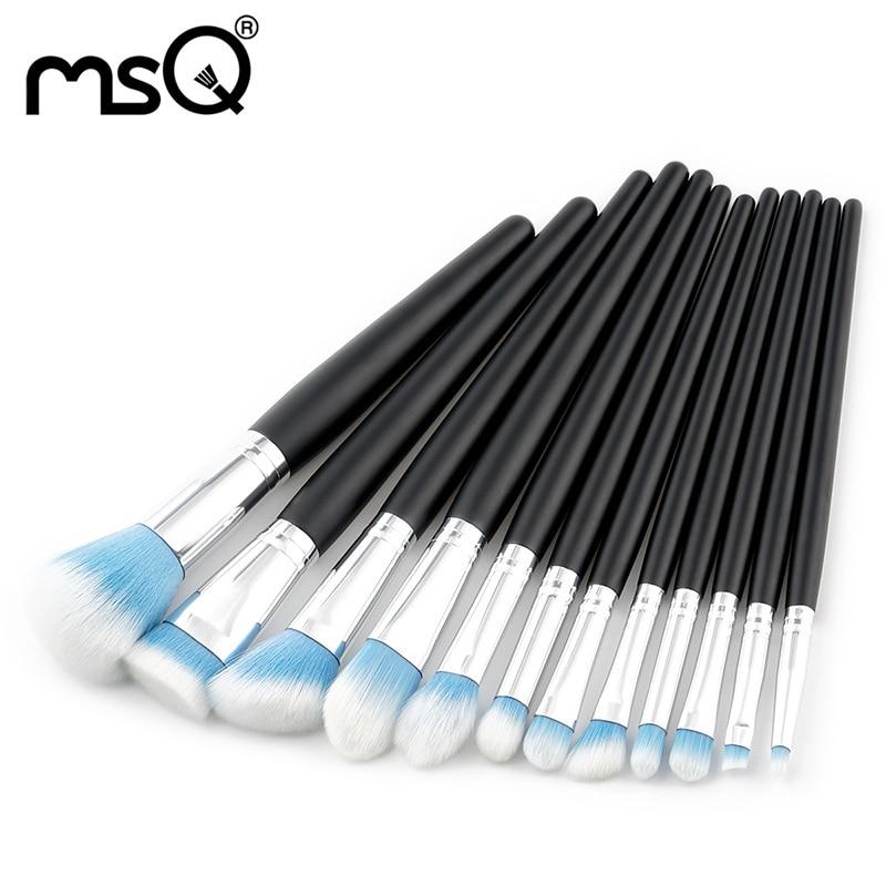 цены на Makeup Brushes Set Wood Handle Brushes For Makeup Professional Cosmetics Tools Eyebrow Brush Kit 12PCs Soft Synthetic Hair Brush в интернет-магазинах