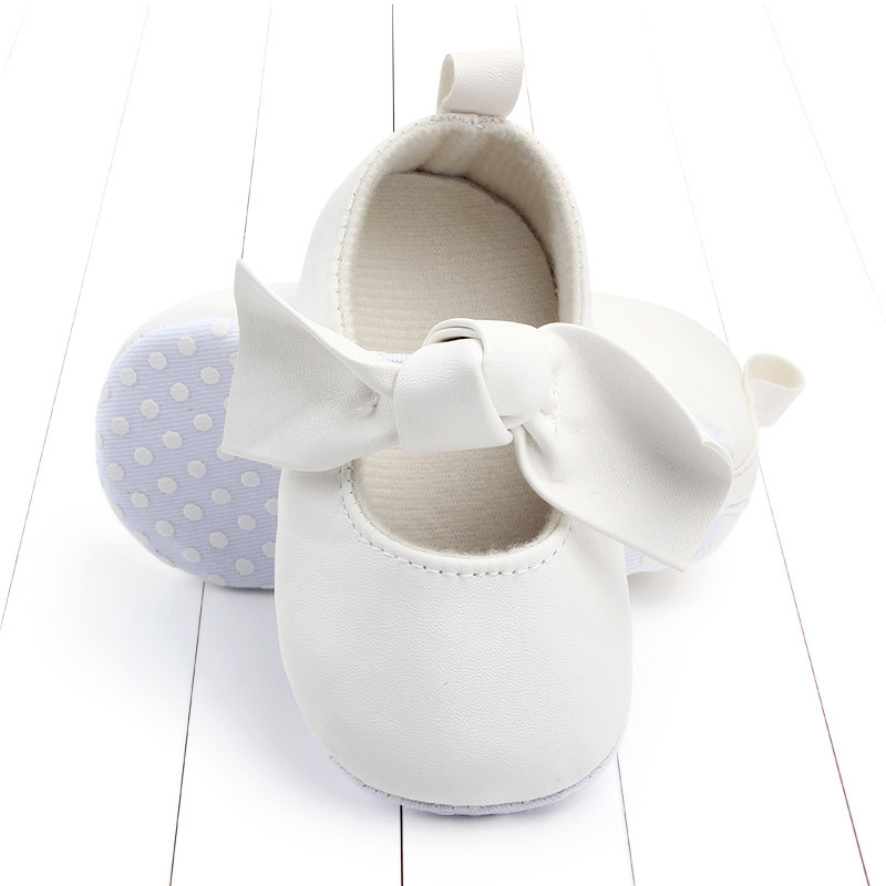 PU Leather Baby First Walkers Shoes Bow Soft Soled Anti-slip Footwear Crib Baby Girl Shoes Infant Toddler Best Gifts for Newborn (8)