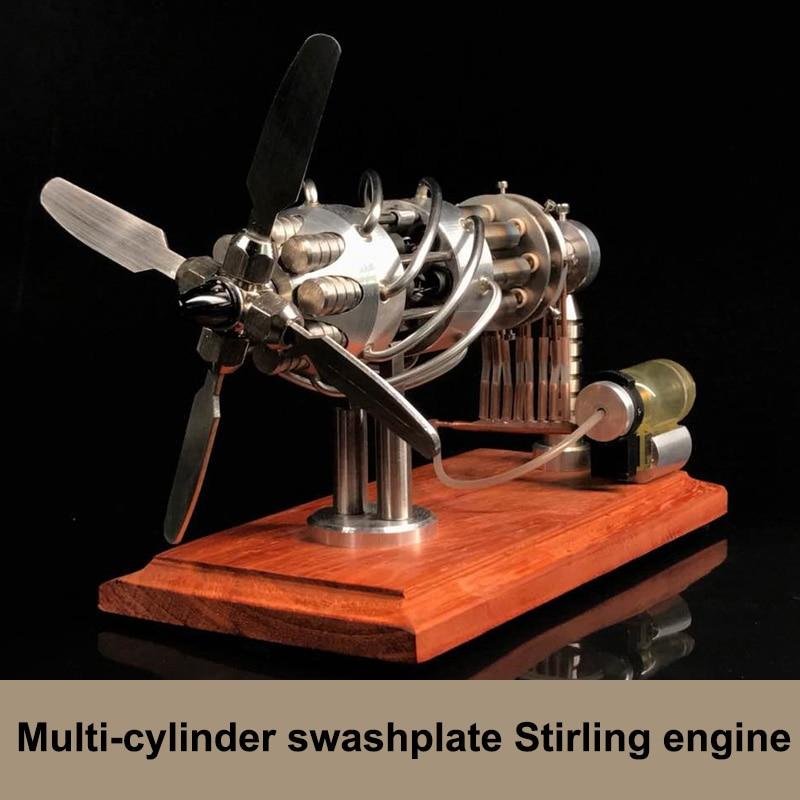 16 Cylinder Hot Air Stirling Engine Motor Model Motor Engine Toy Engine NEW Hot Air Swash Plate Toys Kids Educational