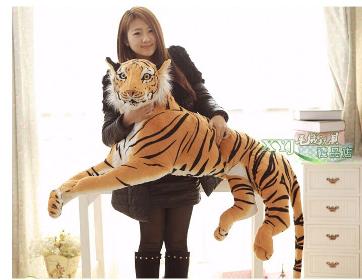 stuffed toy , 130cm tiger prone tiger plush toy hugging pillow , birthday gift p2035 stuffed animal 44 cm plush standing cow toy simulation dairy cattle doll great gift w501