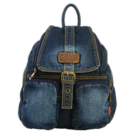 BP053105 Girls Ladies Womens Fashion Leather Backpack Girls Casual Travel Canvas Jeans Vintage Backpack Free Shipping