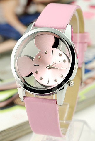 Hollow Fahion Brand Design Mickey Watch Children Fashion Clocks Fans Men Women U