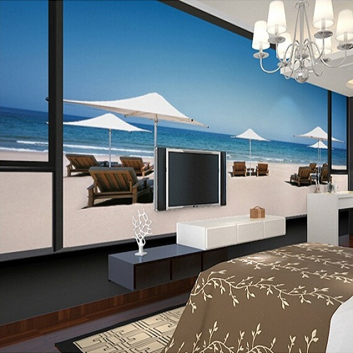 Maldives Beach Mural Wallpaper Scenery Full Wall Murals Print Decals Home  Decor Photo Wallpaper