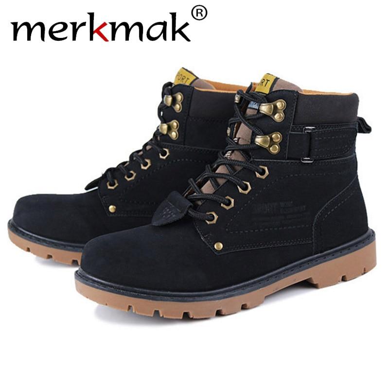 Mermak 2016 Unisex Autumn Shoes Fashion Super Warm Casual Leather Boot Men And font b Women