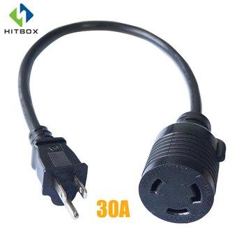 HITBOX 30A/50A UE a RU Cable adaptador convertidor de enchufe estándar, Cable de L6-30R de extensión de alimentación de 1,5 pies 110V 220V 14 AWG
