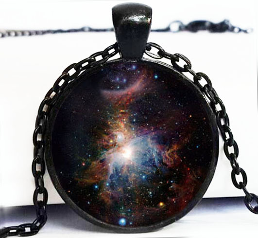 (BUY 3 GET 1 FREE ) NEBULA Pendant Orion Nebula Necklace Galaxy Blue Red GreenTurquoise Jewelry women  -  Seven Princess Fashion Store store