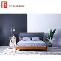Итальянская кровать кадр кожаная кровать king size конструкции