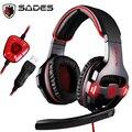 SADES SA-903 sa903 gaming headset 7.1 surround sound usb компьютера гарнитура игровые наушники с микрофоном для компьютера ноутбука