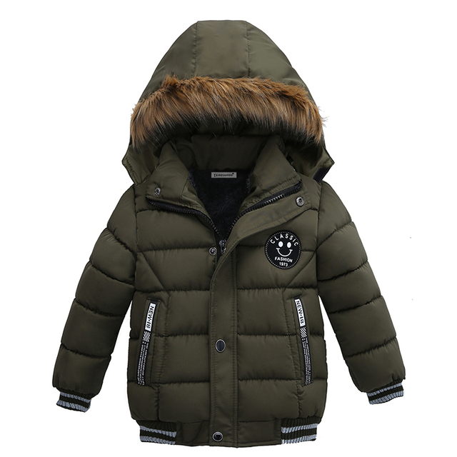 Baby Boys Jacket 2018 Winter Clothes Jacket For Boys Children Jacket Kids Hooded Warm Outerwear Coat For Boy Clothes 2 3 4 5year