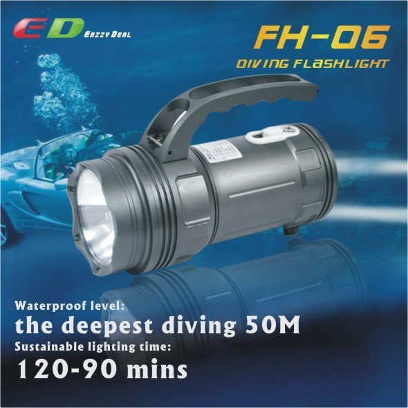 PALIGHT FH-06 35W 2100 Lumens HID Diving Flashlight [1710070]-free shipping