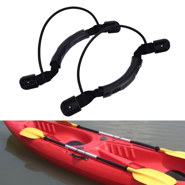 US $4 69 16% OFF|DIY Canoe Accessories 2Pcs/ Set Kayak Canoe Handles Boat  Side Mount Carry Handle with Bungee-in Rowing Boats from Sports &