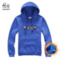HanHent New Fleece Thicken Sweatshirts Streetwear Men Breaking Bad Anime Characters Printed Hoodies Pocket Pullover Men Clothing
