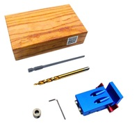 Woodworking Pocket Hole Jig Kit 9 5mm Step Drill Bit Stop Collar For Kreg Manual Pilot