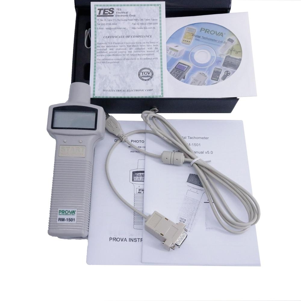 PROVA RM-1501 tachymètre numérique Portable plage de mesure 10.00 à 99,999 tr/min