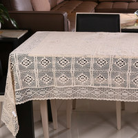 110*160cm Handmade Table Cloth Crochet Table Runner Dining Toalhas De Mesa Lace Tablecloths For Weddings Nappe Free Shipping