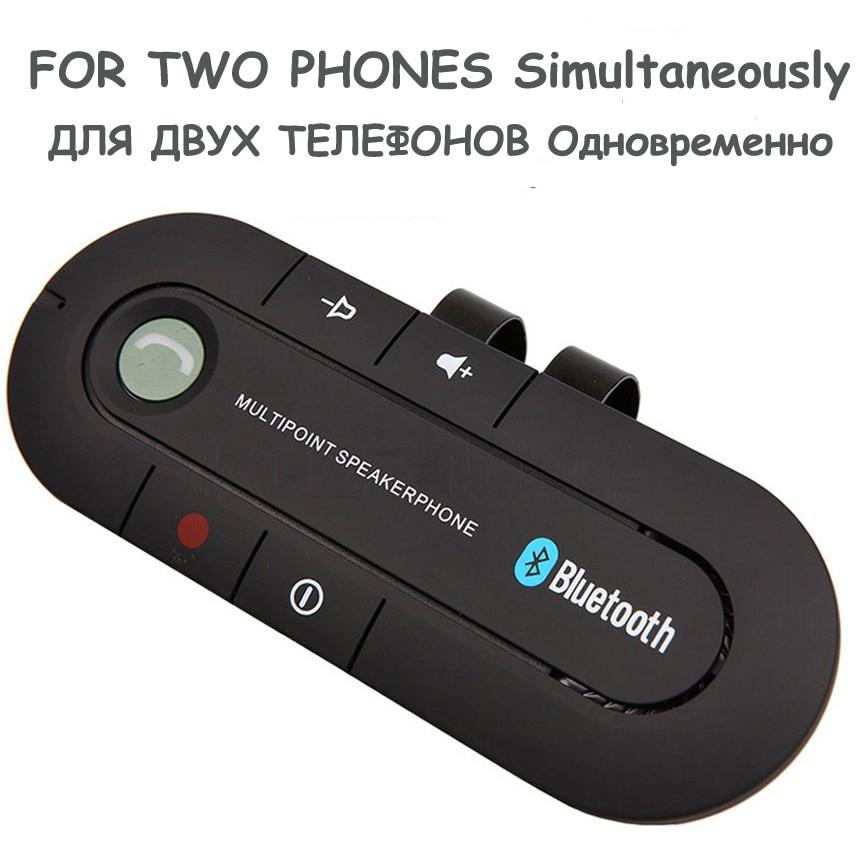 Kit de voiture Bluetooth Haut-Parleur Mains Libres De Voiture MP3 Lecteur Pare-Soleil Bluetooth Récepteur avec Clip pour 2 téléphones Simultanément