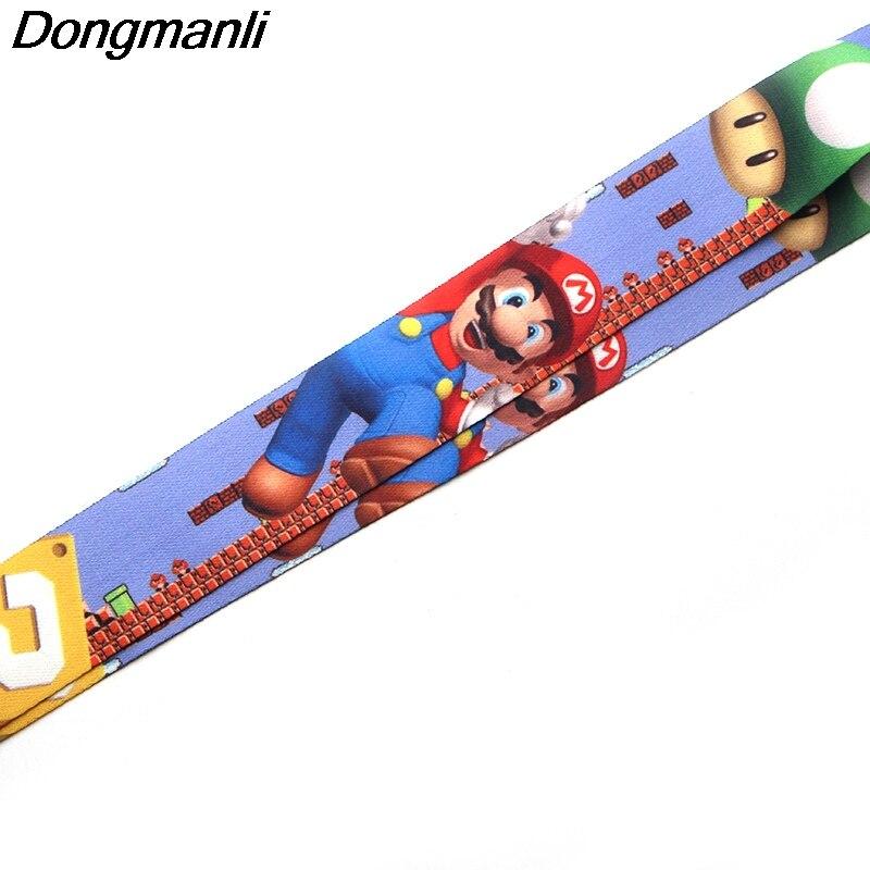 P1987 Dongmanli Super Mario Bros ремешки для Брелок ID карты проходят Gym мобильный телефон USB значок держатель повесить веревку лассо шнурки