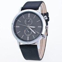 Cindiry hombres bussiness casual watch reloj de pulsera luminosa banda de cuero reloj de cuarzo puntero masculino p0.11