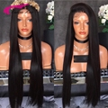 150 Density Brazilian Virgin Human Straight Hair Full Lace Wigs Glueless Human Hair Front Lace Wig For Black Women free shipping