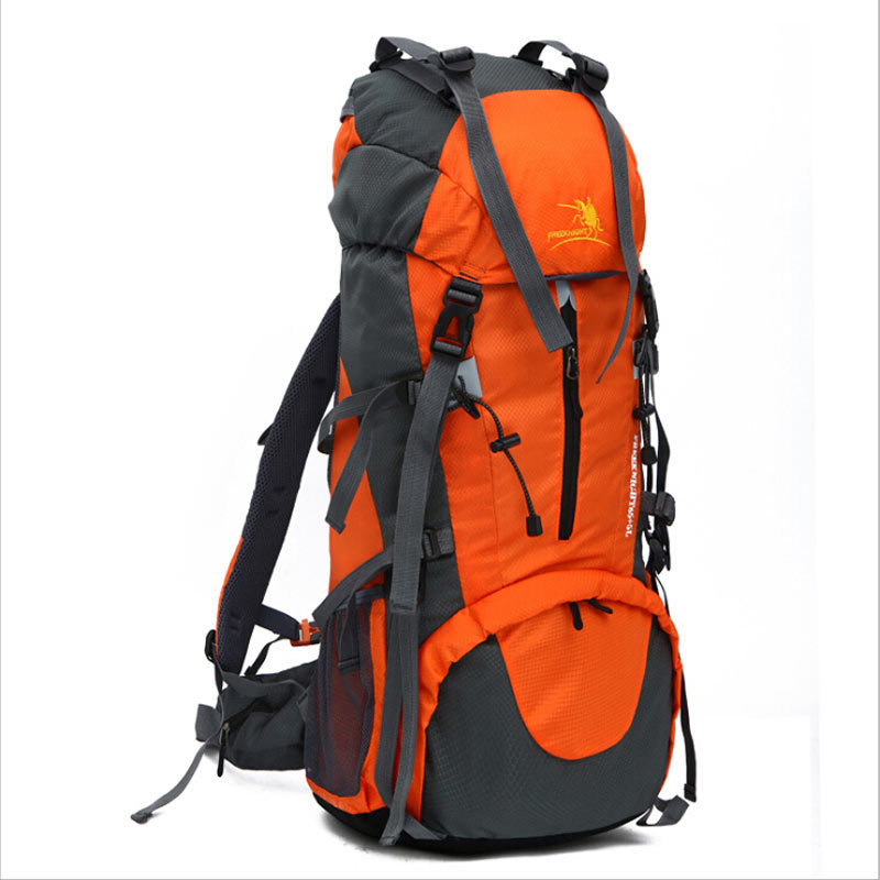 70L Outdoor Climbing Cycling Backpacks Professional Brand Sports Mountaineering Bag Rucksack Water-proof Nylon Travel Bag ORANGE 12l cycling road backpack bike mountaineering rucksack water proof nylon running outdoor ultralight travel water bag helmet bag