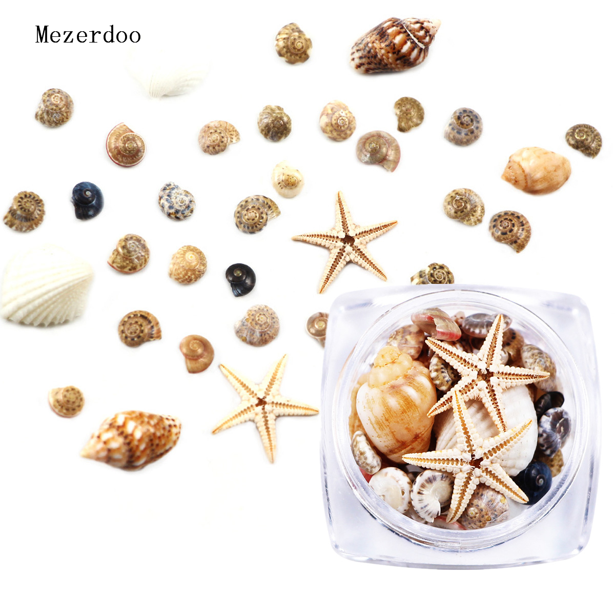 1/2/5 <font><b>Box</b></font> 3D Natural Nail <font><b>Art</b></font> Decoration Mini Conch Shells Starfish Sea Beach Ornaments Manicure <font><b>Tools</b></font> for DIY image