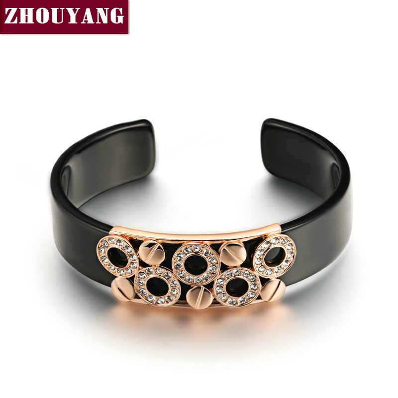 Мужские Браслеты 2018 Черный очаровательный круглый серебристый браслет ювелирные изделия Сделано из натуральных Австрийские кристаллы ZYB018 ZYB017