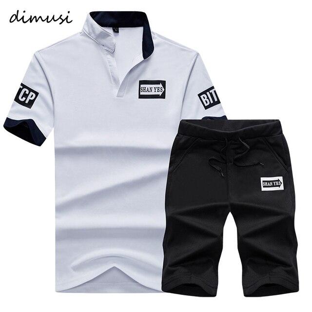 DIMUSI Mùa Hè Men Sportwear Đặt Tracksuit Nam Outwear Áo Nỉ Chắp Vá Men Hoodies Đứng Cổ Áo Nam Tracksuit 4XL, TA056