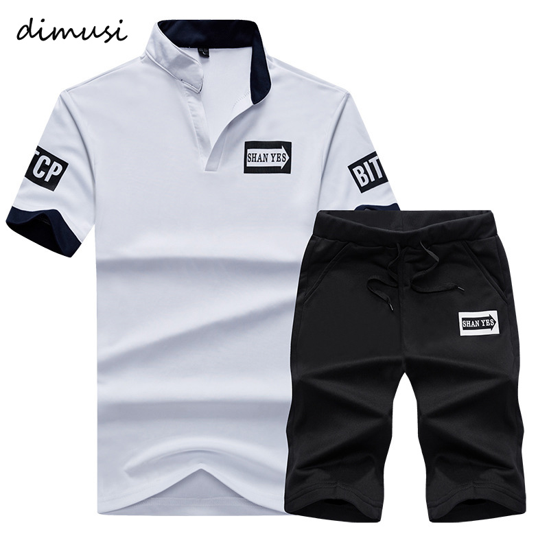 DIMUSI Summer Men Sportwear Sets Tracksuit Male Outwear Sweatshirts Patchwork Men Hoodies Stand Collar Male Tracksuit 4XL,TA056