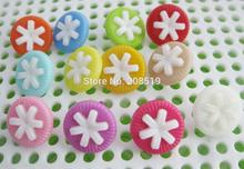 NBNVNG 14MM Combined Round Plastic buttons for children clothes Mix colors 200pcs shank sewing button