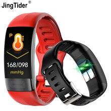 """JingTider P11 Bracelet intelligent 0.96 """"ECG + PPG tension artérielle moniteur de fréquence cardiaque activité Fitness Tracker Bracelet intelligent pour IOS Android"""