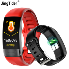 """JingTider P11 Smart Band 0.96"""" ECG+PPG Blood Pressure Heart Rate Monitor Activity Fitness Tracker Smart Bracelet For IOS Android"""