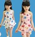 2016 summer Children's clothing set girls sets  children shorts children t shirt girls floral sleeveless
