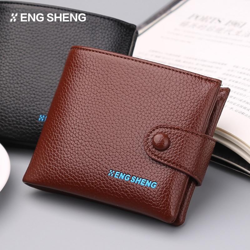 Casual heren portemonnee knop korte paragraaf lange knop brief - Portemonnees en portefeuilles