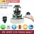 2.8-12mm mini dome câmera H.265 ip 2 K UDH (4*720 P) P2P 4mp/1440 P/1080 P full HD cctv câmeras de vigilância ao ar livre GV-T454V GANVIS
