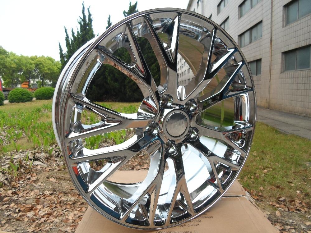 Chrome 19 20 inch 5x120 7 Staggered wheel rims W591