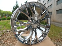 Chrome 19 20 Inch 5x120 7 Staggered Wheel Rims W591