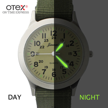 ot03 Hot Sale Outdoor Sport Military Pilot Aviator Army Style Fashion large Dial Fabric Band Casual Analog Quartz Men Watch