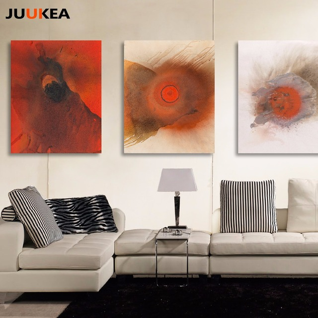 Modern Red Circle Special POP Design Typography Canvas Art Print Painting Poster, Wall Picture For Home Decoration, Wall Decor