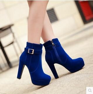 5011 Mujer Buckle azul Negro De Zapatos rojo Scrub Otoño Altos Plataforma Tacón Tacones Grueso Botas Nueva Ultra Martin Moda 2015 XxUIrwUq4