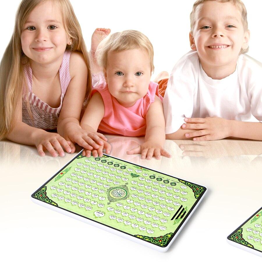 Completo AL-Quran aprendizaje electrónico pad juguete tableta para Islam musulmán Niño, toda la sección sagrado Corán juguetes educativos tempranos